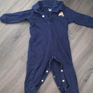 Polo teddy bear onesie 9M Navy